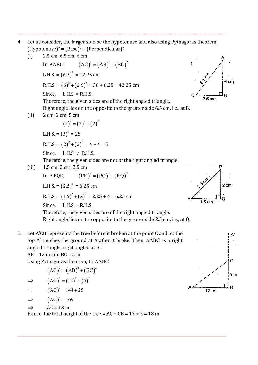 NCERT Solutions For Class 7 Maths Chapter 6 The Triangle and its Properties