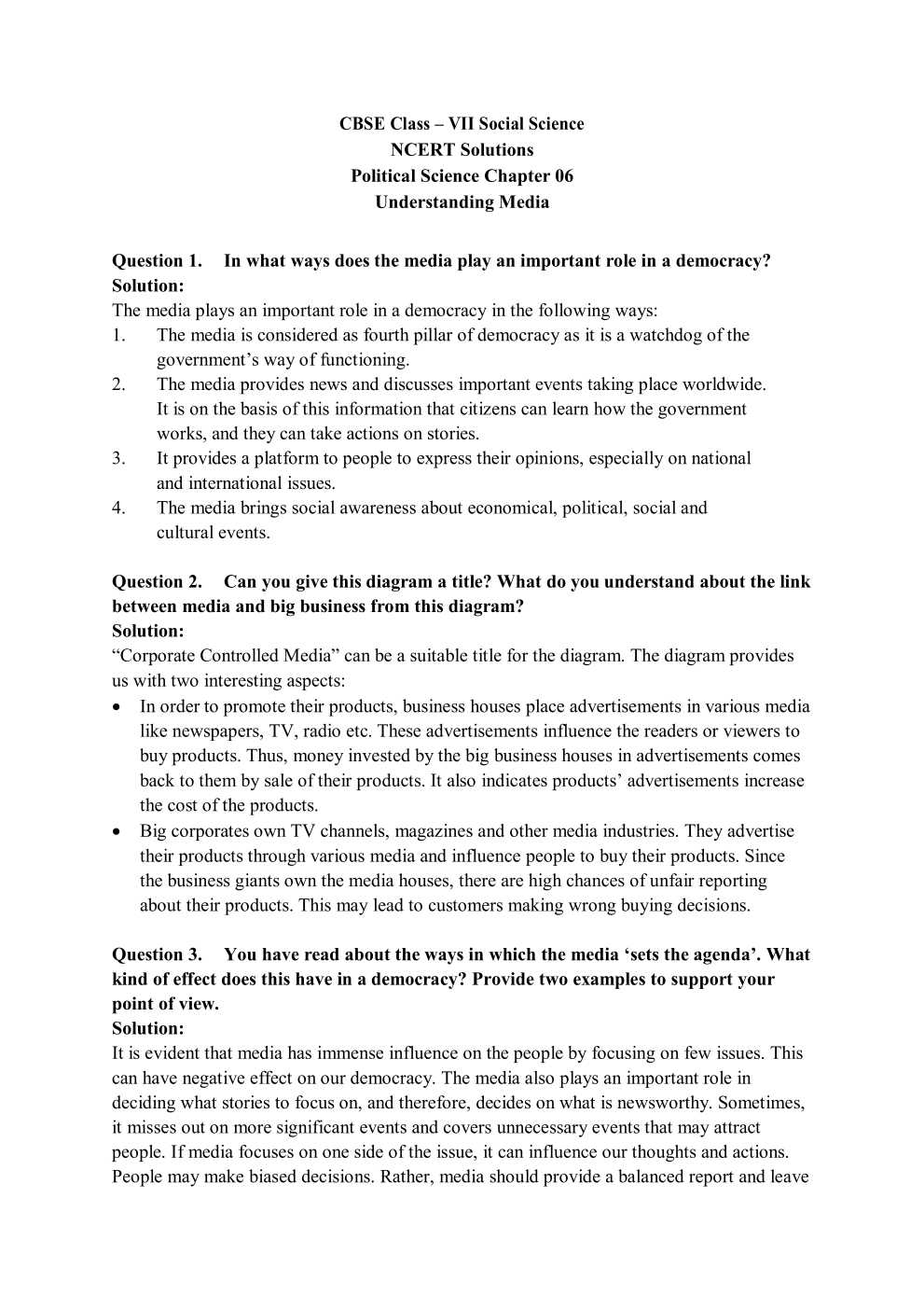 NCERT Solutions For Class 7 social science social and political life chapter 6