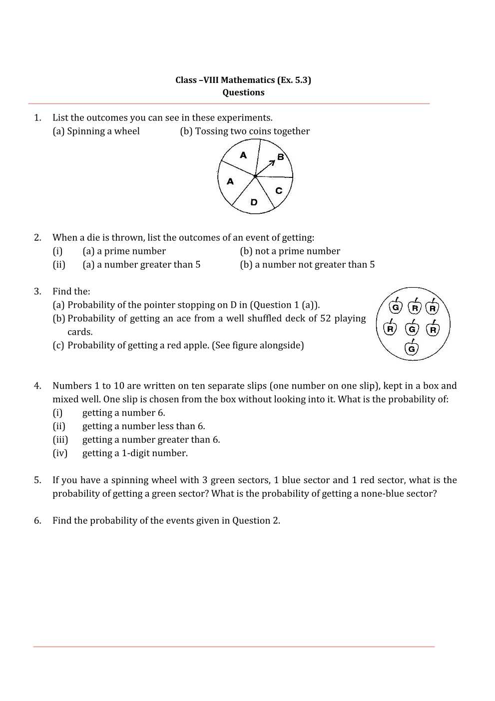 NCERT Solutions For Class 8 Maths Chapter 5
