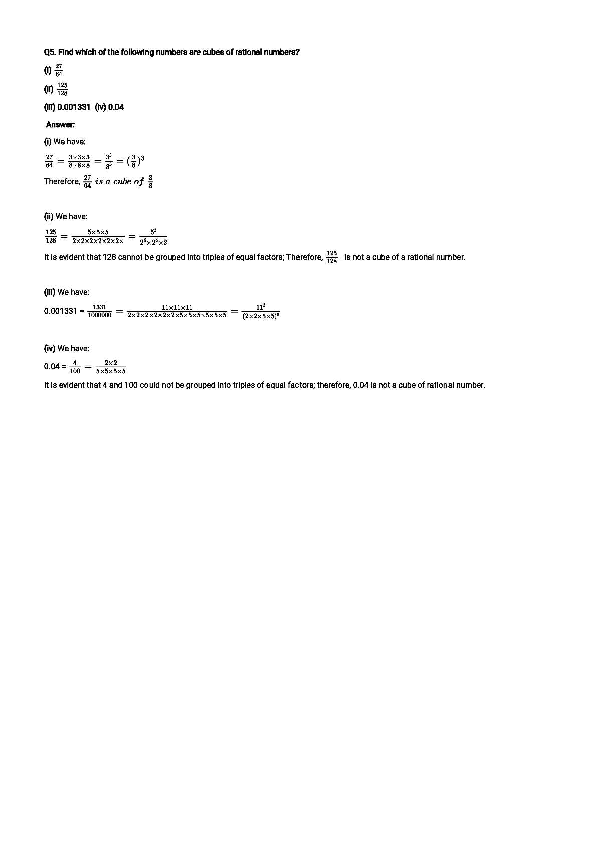 RD Sharma Solutions For Class 8 Maths Chapter 4
